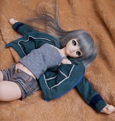 疲れたー(ドサッ (mauserM712) Tags: 初音ミク ドール hatsunemiku doll dds nikon d810 nikkor 2470mm f28 vr m胸まいなす camisole キャミソール