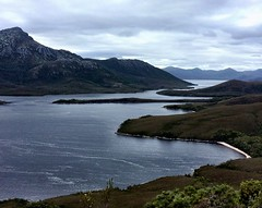 View from Balmoral Hill. Bathurst Harbour. Port Davey, Tasmania.