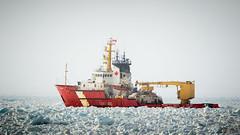 Pushing through (Paul F Nicol) Tags: coastguard ice berg