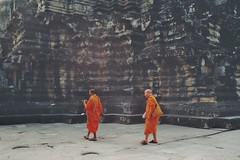 (Germaine Pötgen) Tags: monk monks cambodia siem reap angkor wat temple buddhism travel asia moody analog analogue 35mm