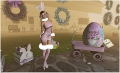 Happy Easter! (Moni Carissa) Tags: its gau fitmesh designer expose bunny easter maitreya mesh catwal strawberrysingh appliers omega frozen pose prtty hair