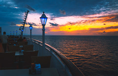 Dining with a view (JohnNguyen0297 (slowly catching up)) Tags: cruise cruiship mood diningwithaview a6000 icle6000 sunset watchingsunset johnnguyen0297
