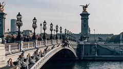 Alexandre III Bridge (achargros) Tags: alexandreiii bridge cloud france gold invalides outside paris perspective seine sky street rome italy