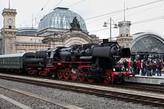 BR 52 8079-7 med tåg (Michael Erhardsson) Tags: br 52 80797 med tåg tyskland dresden dampfloktreff 2017 ånglok baureihe järnväg ångtåg