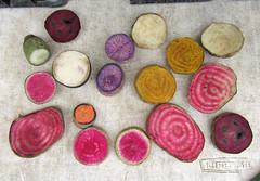 Organic Samples (meg williams2009) Tags: vegetables beets carrots turnips radishes unionsquaregreenmarket farmersmarket newyork unionsquarepark nyc organicproduces norwichmeadowfarm food potatoes rootvegetables