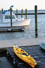 A Little Yellow Boat (catherine4077) Tags: boat marina williamsburg virginia yellow water river