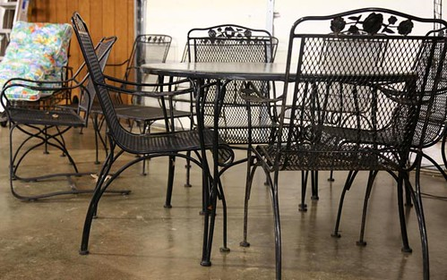Black Meadowcraft Patio Table w/4 Chairs ($201.60)
