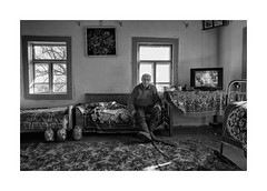 (Jan Dobrovsky) Tags: countryside portrait countrylife leica ukraine people volyň monochrome indoor leicaq rural village document blackandwhite
