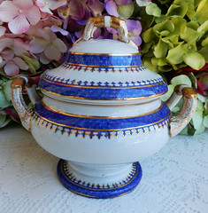 Antique Early 19c Spode New Stone Covered Tureen ~ Cobalt Gold (Donna's Collectables) Tags: antique early 19c spode new stone covered tureen ~ cobalt gold