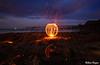 0S1A5454 copy (Steve Daggar) Tags: catherinehillbay sunset seascape landscape nswcentralcoast gosford wharf jetty firetwirling steelwooltwirling firespinning