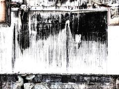 If Walls Could Talk (Steve Taylor (Photography)) Tags: ifwallscouldtalk wallsoot crack burnt art digital building black brown white concrete newzealand nz southisland canterbury christchurch cbd city demolition earthquake