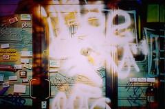 Mega Mall Entrance (tylersullivan618) Tags: megamall chicago chicagophotographers experimental color lomo lomography elomography eerie smash smashed glass door fireextinguisher logansquare chicagonights nightshots abandoned abandonedchicago abandonedporn abandonedillinois urbandecay urbanexploration urbex abandonedbuilding decay derelict pentax photography streetphotography streets streetart art tag graffiti tylersullivan tylersullivanphotography urban