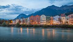 Innsbruck: To and From (DJNstudios) Tags: austria bavaria europe germany german roadtrip innsbruck fall foliage traintracks tracks train river beer