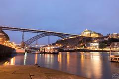 Oporto de noche (David Castro Rodriguez) Tags: night nikon tokina water colorfull oporto pt portugal puente
