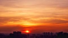 Golden Sunset (elenaleong) Tags: goldensky sunset townscape settingsun