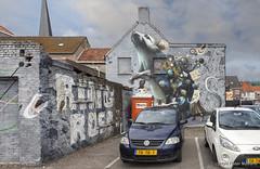 De Rat van Breda (Pieter Musterd) Tags: mural grafitti breda parkeerterrein auto car rat pietermusterd musterd canon pmusterdziggonl nederland holland nl canon5dmarkii canon5d brabant muur rutgertermohlen collinvandersluis supera