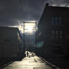 Sunset Alley. #canada #vancouver #clouds #sunset #sun