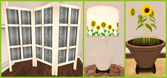 The Collage | Lumiere Sunflower decor items (Hidden Gems in Second Life (Interior Designer)) Tags: summer home collage design interior sunflowers lumiere decor homestuff the exclusives storaxtree