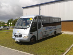 Keepings Coaches Sitcar. (Woolfie Hills) Tags: swansea private mercedes beluga coaches hire lcs sitcar keepings y458