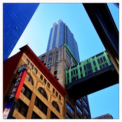 Jack's 99 cents (street level) Tags: nyc newyorkcity architecture manhattan skybridge midtown iphoneography