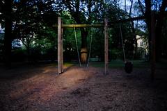 Swing (harry.f) Tags: city sun playground munich shadows place pentax eveningsun 28mm swing m settingsun f20 harryf fujifilmxe1 lensturbo pentax228 28on35