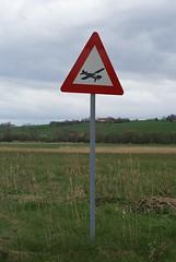 Warning sign spotted on a bird watching hike... (Jaedde & Sis) Tags: sign warning aeroplane