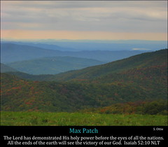Max Patch, Isaiah 52:10 (Humbly Serving Christ) Tags: usa max mountains fall grass clouds america us nc view united great north foliage trail carolina miles states smoky appalachian patch smokies