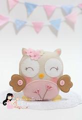 Corujinhas engraçadinhas ♡ (Ei menina! - Érica Catarina) Tags: felt owl coruja enfeites feltro enfeite lembrancinha lembrancinhas corujinha