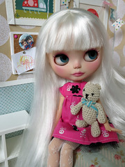 Angel with her tatty old teddy