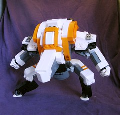 Leviathan 1.1 (action pose) (Jandyman) Tags: toy nose robot lego space astro bignose scifi sciencefiction minifig mecha mech minifigure moc spaceteam jandyman