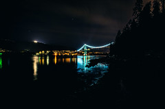 LionsGate at Night (Imitation - of - Life) Tags: longexposure night vancouver bc ricoh
