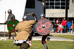 Calgary Comic Expo 2014 (Light, lines, and colours.) Tags: calgary nikon comic expo armor axe shield combat 2014 d3100