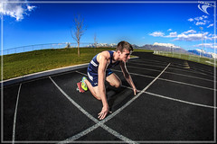 Track and Field - Running Senior Photo
