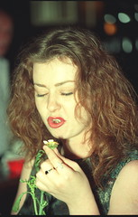 Chelsea at Reading Terminal Philadelphia Eating Daisies 1993 022 (photographer695) Tags: philadelphia daisies reading chelsea eating terminal 1993