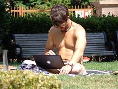 (sftrajan) Tags: sanfrancisco california shirtless man nipples barechested nobhill caucasian baretothewaist