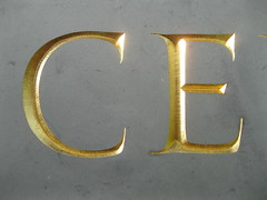 (Elwyn Brooks) Tags: design letters stonecarving lettering slate inscription gilding lettercutting lettercarving