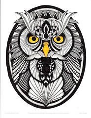 Tangled owl (Amaryllis Creations) Tags: zentangle