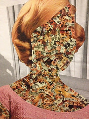 The Lady - Close up (KieranSperring) Tags: london art collage female vintage artist handmade exhibition retro feminism battersea feminist
