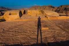 Shadow (LarrynJill) Tags: travel light shadow vacation sun sunrise dawn ruins rocks desert mark petra middleeast jordan 2014