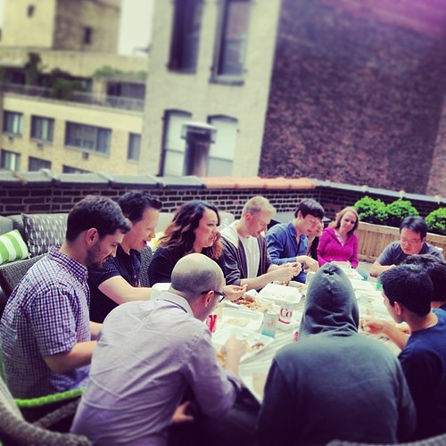 Ethiopian on the rooftop for lunch today. #knerds #knewton