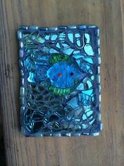 Summertime ATC (Elsieland Mosaics) Tags: glass tile corpuschristi mosaics christi corpus elsie mosaicart gaertner elsieland elsiegaertner elsielandmosaics