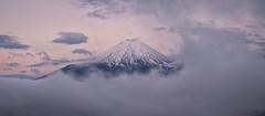 Purple Dawn (Yuga Kurita) Tags: morning japan clouds dawn fuji mount fujisan 雲 富士山 mtfuji yamanashi fujiyama 雲海 朝 富士 yuga kurita 朝ぼらけ minamitsurudistrict
