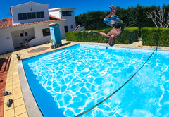 m967 (HrrayFrunk) Tags: camp mountains water pool swimming back surf line swimmingpool flip slack liquid waterline slackline gibbon backflip