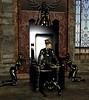 The Throne (alexandriabrangwin) Tags: world woman sexy fetish computer 3d graphics opera shiny dolls boots royal posed rubber queen glossy thigh gloves cap secondlife virtual latex corset collar total officer throne catsuit eyepatch spiked stilettos cgi enclosure maidens catsuits worshippers slavegirls rubbergirls alexandriabrangwin
