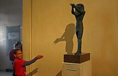 Making Shadow Animals With Horus (Jan Nagalski (jannagal)) Tags: boy shadow paris france art history statue ancient god egypt egyptian horus artifact isis osiris antiquity museedulouvre youngboy godofw
