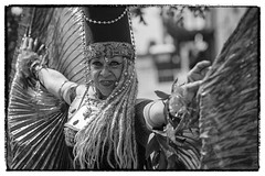 Egyptian Mermaid (Studio Fuentes) Tags: woman usa newyork beach festival female brooklyn coneyisland unitedstates african parade egyptian braids mermaidparade pharoh