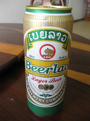 Beer Lao- first time tasting it!