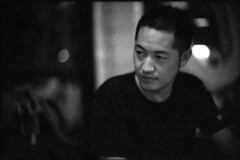Ryo in Holy Chef (TAHUSA) Tags: camera leica blackandwhite bw film 50mm open bokeh wide f10 400 push 100 noctilux m2 v1 creamy efke 5010 e58 2stops