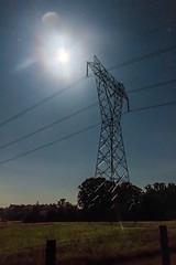 Moon & Mars with Transmission Tower (Nohrmal) Tags: sky mars moon night stars space powerlines astrophotography astronomy transmissiontower