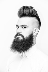 (Simon Laroche_8) Tags: bear white haircut man black simon classic texture monochrome look fashion canon hair out fur beard groom chair photographer photographie montral bears manly badass shaved hipster beards minimal rosemont moustache textures barbershop qubec shaving barber trendy shave hairdresser looks salon 28 blade barbe testosterone layered cordial 200mm choppy laroche texturized razored thinned canon5dmiii simonlaroche